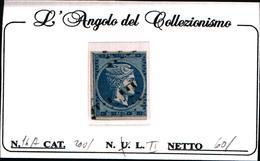 10245)  Grèce N°14A- 1861- Tête De Mercure-20 LEPTA-USATO - Oblitérés