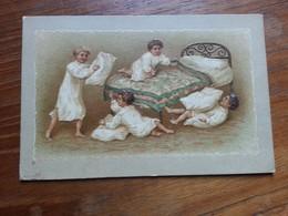Postkarte, Unbenutzt, 4 Lausbuben, Kissenschlacht - Allemagne
