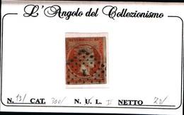 10249)  Grèce N°13 1861- Tête De Mercure- 10 LEPTA-USATO- - Oblitérés