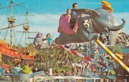 Disneyland Anaheim California, Fantasyland 'Dumbo' Ride C1950s/60s Vintage Postcard - Disneyland