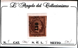 10250)  Grèce N°1 1861- Tête De Mercure- 1 LEPTA-USATO- - Oblitérés