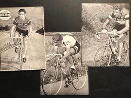 3 Cartes / Cards  - Kriterium Eernegem 1973 - Merckx, Gimondi, Maertens -  Cyclists - Cyclisme - Ciclismo -wielrennen - Wielrennen