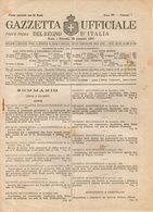 B 2995  -  Gazzetta Ufficiale Del Regno D'Italia,  1945 - Decreti & Leggi