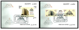 Egypt - 2006 - FDC - Set & S/S - ( Al-Ahram Newspaper, 130th Anniv. ) - Cartas