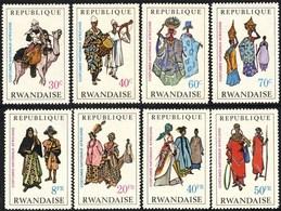 +Rwanda 1968, Costumes Nationaux, 8v, N** - Rwanda