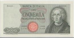 ITALY  P. 98c 5000 L 1970 AUNC - [ 2] 1946-… : Républic