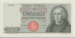 ITALY  P. 98c 5000 L 1970 UNC - [ 2] 1946-… : Républic