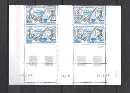 1983  - Bloc De 4 TIMBRES NEUFS  Poste Aérienne N° 44 - J.MERMOZ Et A. De SAINT EXUPERY  Daté Du 24/03/83 Cote 75 Euros - Posta Aerea