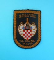 CROATIA ARMY - MILITARY POLICE 72. BOJNA (SPLIT) Patch * Croatie Police Militaire Armee Kroatien Militärpolizei Croazia - Police & Gendarmerie