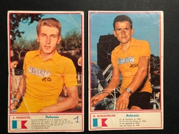 Cartes / Cards - Anquetil + Walkowiak  -  Cyclists - Cyclisme - Ciclismo -wielrennen - Wielrennen