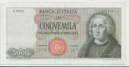 ITALY  P. 98a 5000 L 1964 VF - [ 2] 1946-… : Républic