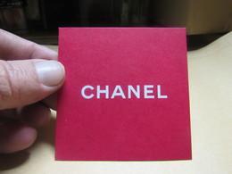 CARTE PARFUMEE  CHANEL - Cartes Parfumées