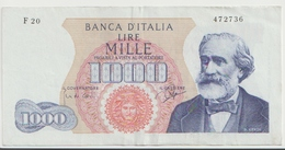 ITALY  P. 96b 1000 L 1963  VF - [ 2] 1946-… : Républic