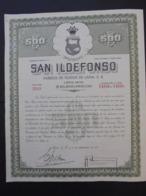 MEXIQUE - MEXICO 1951 - SAN ILDEFONSO, FABRICA DE TEJIDOS DE LANA - TITRE DE 500 PESOS - Shareholdings