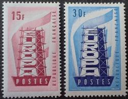 R1680/545 - 1956 - EUROPA - N°1076 à 1077 NEUFS* - Francia