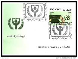 Egypt - 2005 - FDC - ( World Literacy Day ) - Cartas