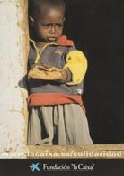 CARTULINA DE ESPAÑA. PUBLICIDAD. NIÑO. FUNDACION LACAIXA. CANAL SOLIDARIDAD. (907). - Niños