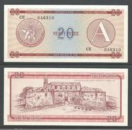CUBA 20 PESOS (A) 1985 UNC!!! - Cuba
