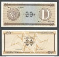 CUBA 20 PESOS (D) 1985 UNC!!! - Cuba