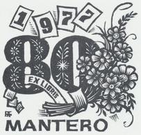 Ex Libris Mantero 1977 - Antal Fery (1908-1994) - Ex-libris