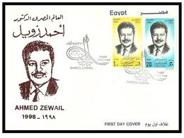 Egypt - 1998 - FDC - Dr. Ahmed Zewail, Awarding Of Nobel Prize For Chemistry - Nobelpreisträger