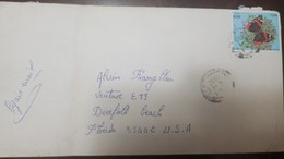 O) 1992 ALGERIA - BUTTERFLY VANESSA ATALANTA, TO USA - Algeria (1962-...)