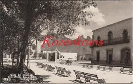 Unique Old Photo Photocard Postcard MEXICO MONTERREY NUEVO LEON SQUARE PLAZA DE ZARAGOZA 1940's - Mexique