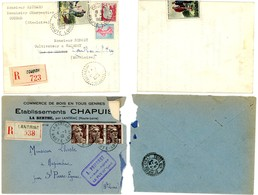 HAUTE LOIRE LAC 1946 1963 LANTRIAC COUBON LETTRE RECOMMANDEE RECETTE DISTRIBUTION - Marcophilie (Lettres)