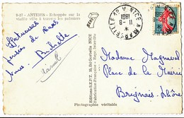 ALPES MARITIMES BOUCHES DU RHONE CP 1961 AMBULANT NICE A MARSEILLE 1° A - Marcophilie (Lettres)
