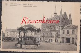 Oude Postkaart 1948 Geeraardsbergen Grammont Stadhuis En Kiosk Hotel De Ville Et Kiosque (In Goede Staat) - Geraardsbergen