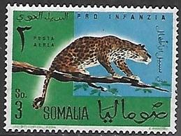 Somalia  1960  Sc#C72  3s Leopard  MNH  2016 Scott Value $3.75 - Big Cats (cats Of Prey)