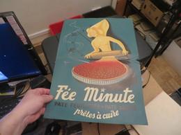 """AFFICHE PUBLICITAIRE """" FEE MINUTE """""""" 50X34 Cm  Etat De Son Age - Affiches"""