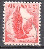 United States 1958 Airmail Eagle - Sc # C50 - Mi.681 - Used - Estados Unidos