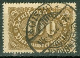 Allemagne Michel 222 C Ob TB Geprüft Cote 35 Euro - Used Stamps