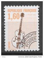 N° 213a  Année 1992, Les Instruments De Musique, Valeur Faciale 1,60 F - 1989-....