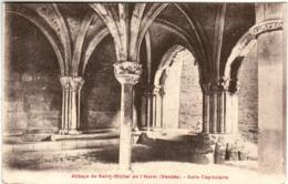 61lt 1235 CPA - ABBAYE DE SAINT MICHEL EN L'HERM - SALLE CAPITULAIRE - Saint Michel En L'Herm