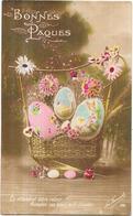CPA COLORISEE FETE -  BONNES PAQUES - En Attendant Votre Retour............... œufs D'amour  - CAT - - Ostern