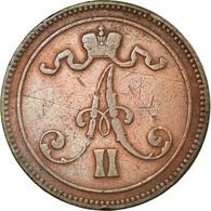 Monnaie, Finlande, Alexander II, 10 Pennia, 1866, TB+, Cuivre, KM:5.1 - Finlande