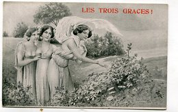 CPA  Fantaisie : Les Trois Graces Pub Dardoize Et Dulin à Châlons Sur Marne     A   VOIR  !!!!!!! - Femmes