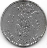 BELGIQUE 1972 - 5 Francs - 1951-1993: Baudouin I