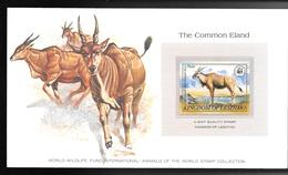 LESOTHO 1982 SUPERBE CARTE COLECTION WWF THE OMMON ELAND ELAN Avec Timbre Neuf **sans Charnière / MA06/ - Lesotho (1966-...)