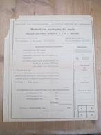 Berlare De Rouck Borderel Neerlegging Der Zegels Rantsoeneringtijdsperk Tweede Wereldoorlog - Belgique