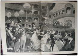 Paris - Au Bal De L'Opéra - L'arrivée Du Bucentaure - Page Original  1895 - Historische Dokumente