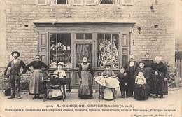 20-1006 : CHAPELLE BLANCHE. COTES D'ARMOR. MAGASIN  CONFECTIONS MODES. EPICERIE. QUINCAILLERIE MACHINE A COUDRE. - Shops