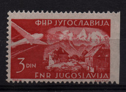 45. Yugoslavia 1951 Air Stamp, Imperforated At The Right Side MNH - 1945-1992 Repubblica Socialista Federale Di Jugoslavia
