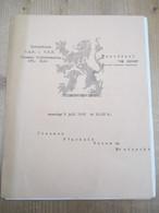 Davidsfonds Vlaamse Volksbeweging Zele Guldensporenviering 1962 - Programma's