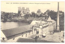 CPA 03 -  BOURBON L'ARCHAMBAULT (Allier) - 48. Le Moulin, L'Etang Et Les Ruines Du Château - Bourbon L'Archambault