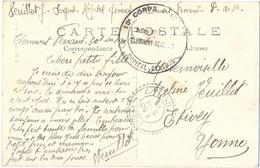 GUERRE 14-18 13e CORPS D'ARMEE * HOPITAL GENERAL * CLERMONT-FERRAND PUY-DE-DOME Le 30-10-1915 - Guerra De 1914-18