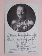 Kaiser WILHELM II ( Roten Kreuz / Deutsche Kriegskarte ) Anno 1914 Schönheide ! - Rotes Kreuz