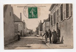 - CPA FONTAINE-FOURCHES (77) - La Grande Rue 1911 (belle Animation) - Collection Preau - - Frankrijk